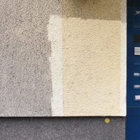 Remove buildup from textured colored stucco  - after