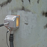 Remove graffiti from cement - after